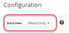 Select the default config scope