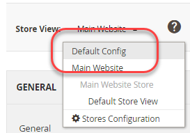 Switch to the default config