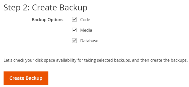 You can back up the Magento 2 file system, media directory, and database