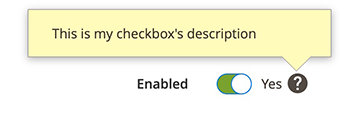 Checkbox Toggle UiComponent