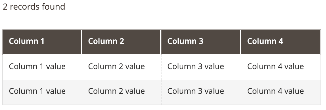 Columns Component Example