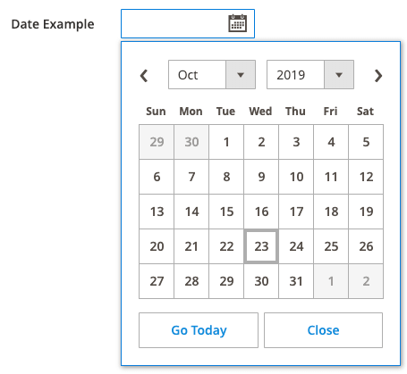Date Component Expanded Example