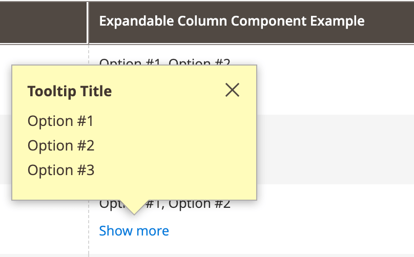 Expandable Component expanded example