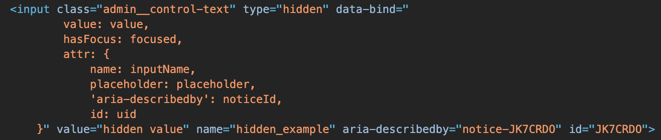 Hidden Component example