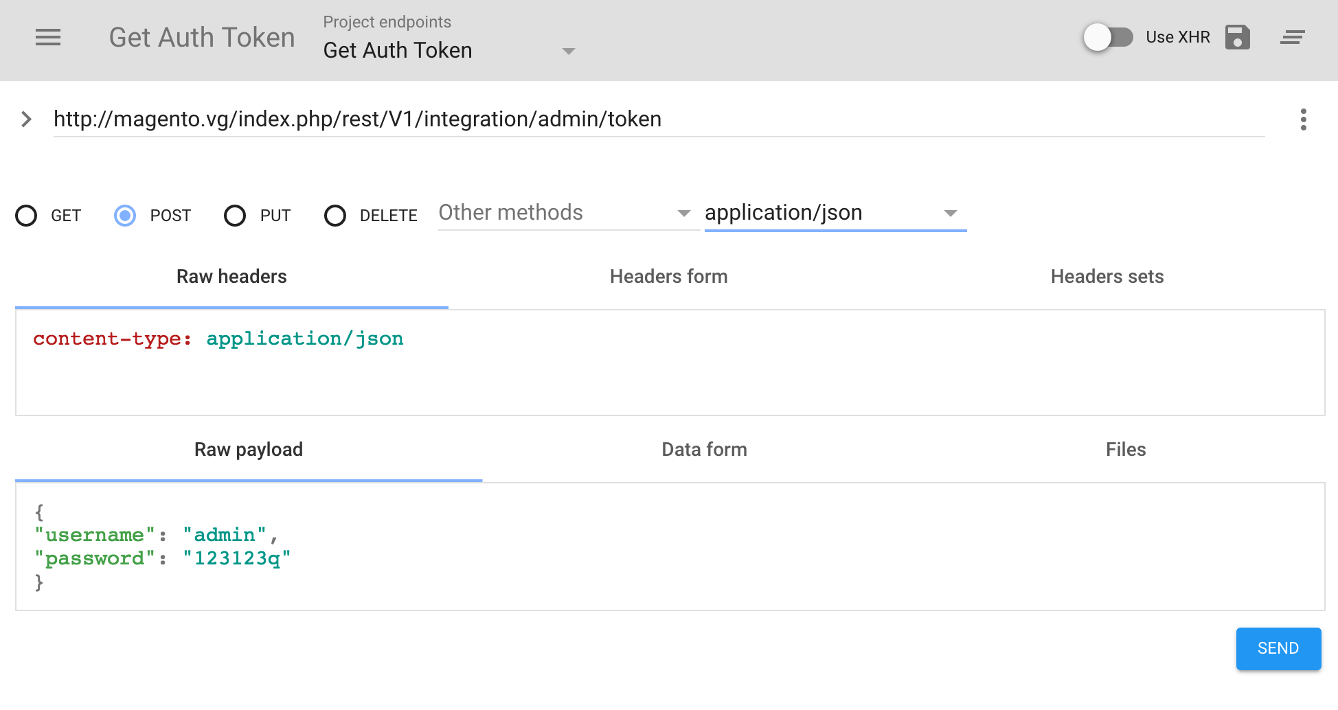Token-based authentication | Magento 2 Developer Documentation