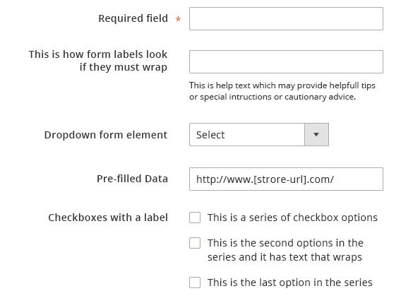 Form Elements | Magento 2 Developer Documentation