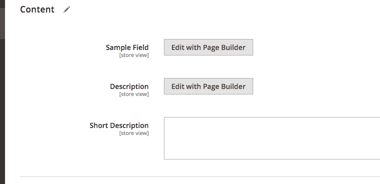 Page Builder button